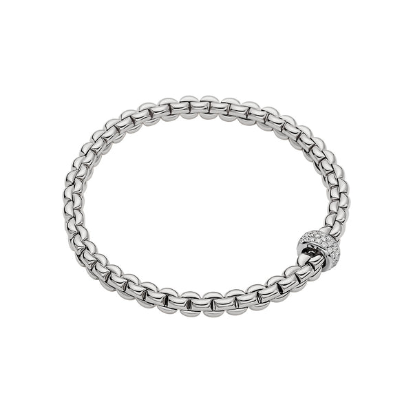 Eka Flex'It Bracelet with Pavé Diamond Rondel