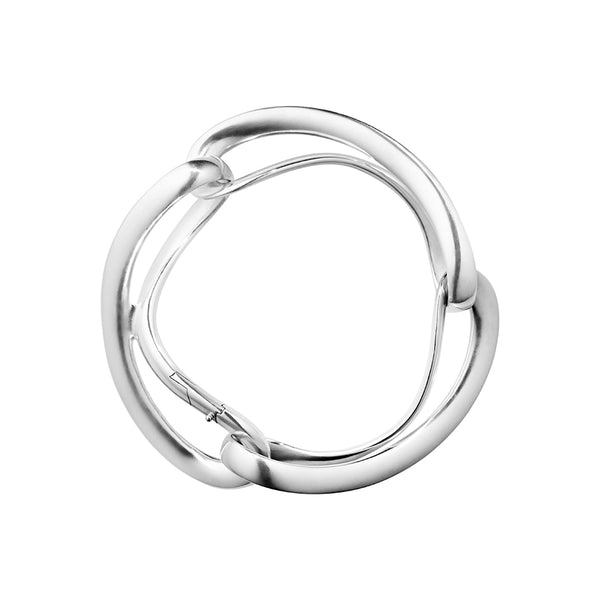 Infinity Bangle - Sterling Silver - Large Links