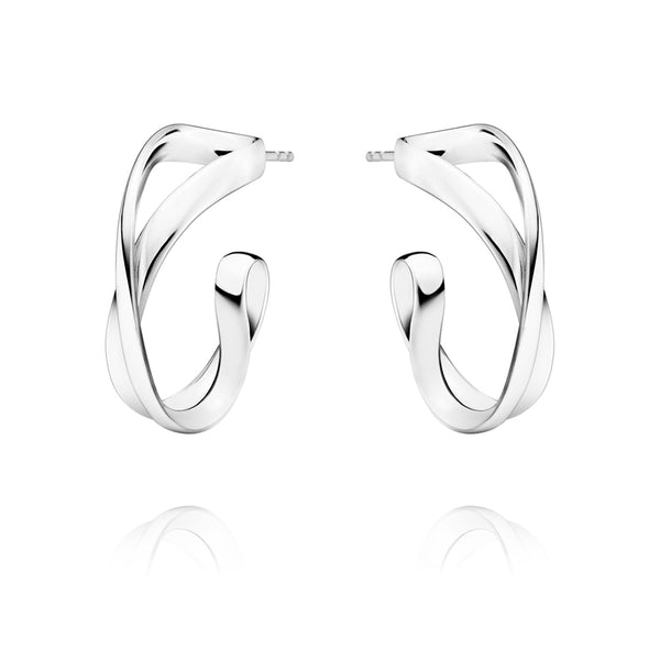 Infinity Earhoops - Sterling Silver - Small