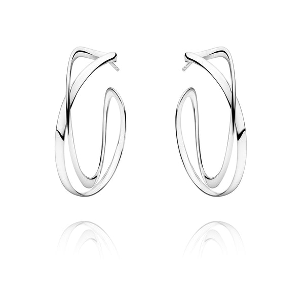 Infinity Earhoops - Sterling Silver - Large