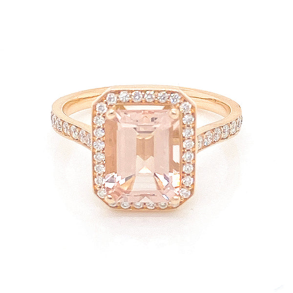 Morganite Twilight Ring