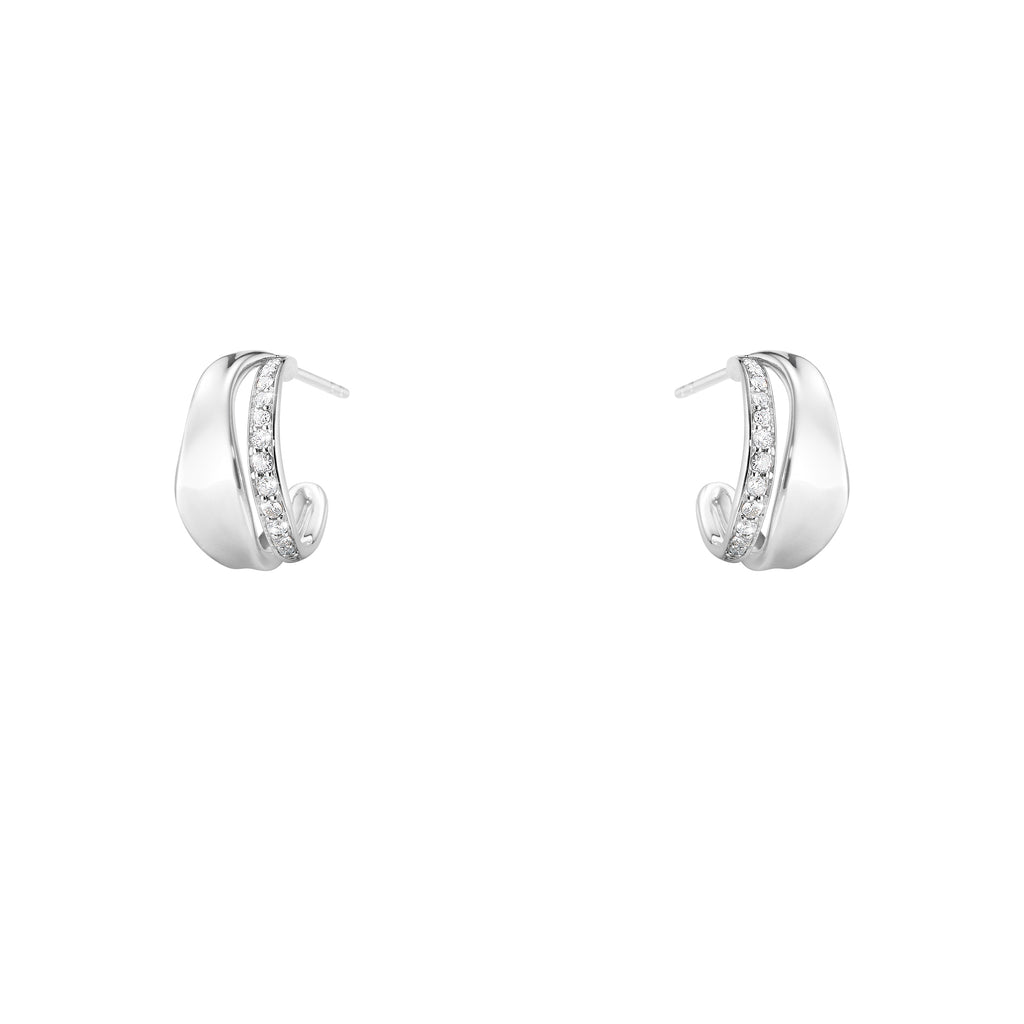 Marcia Earrings - Sterling Silver with Diamonds