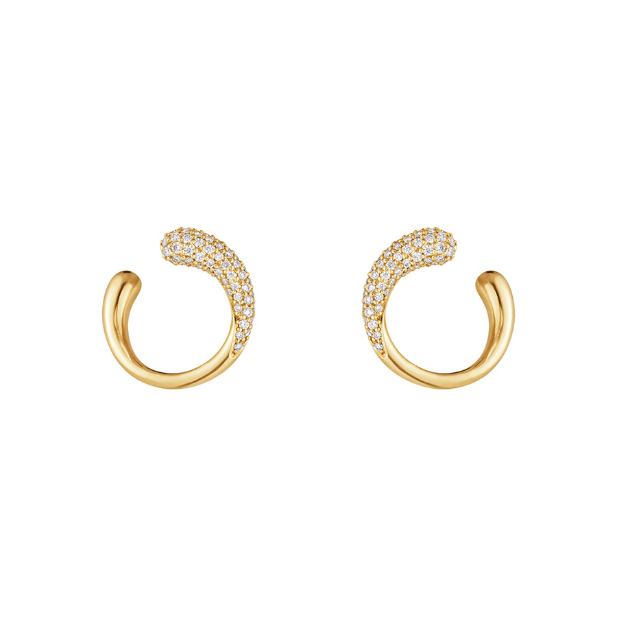 Mercy Earrings - 18kt Yellow Gold and Diamonds