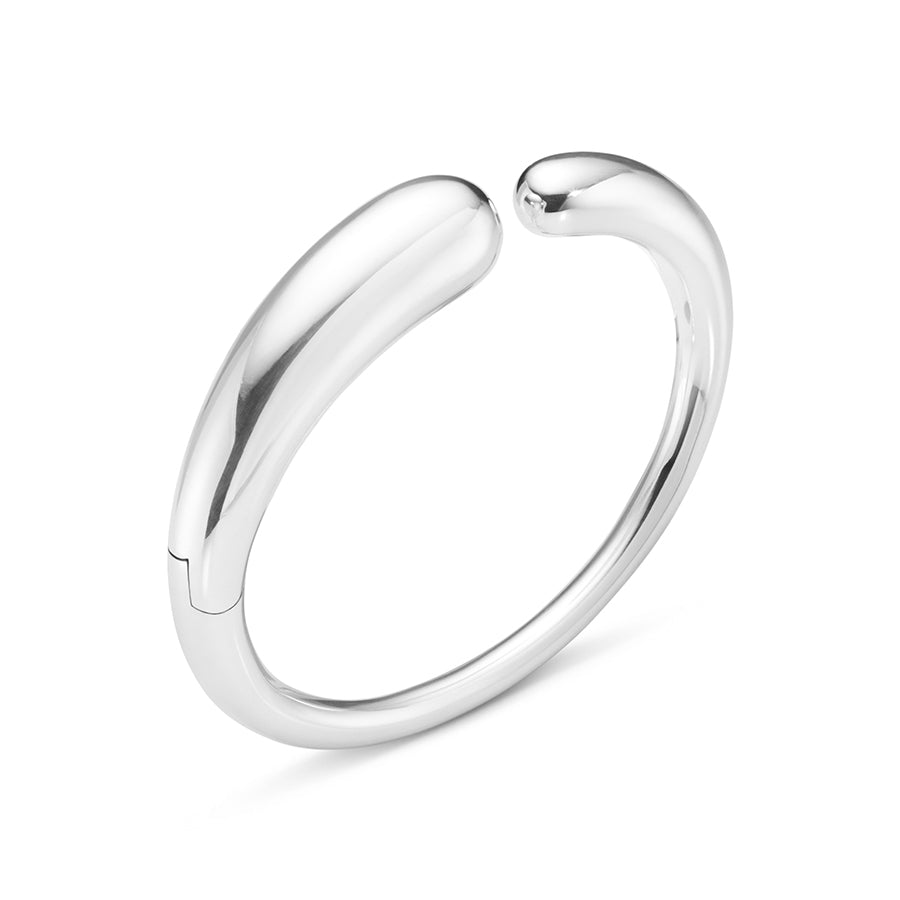 Mercy Hinged Bangle - Sterling Silver
