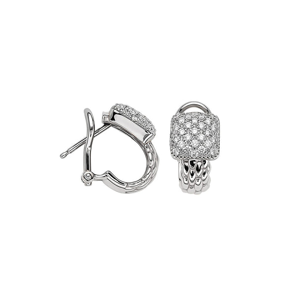 Vendôme Earrings with Diamond Pavé