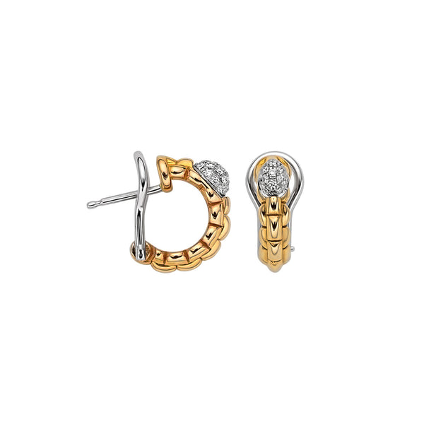 Eka Tiny Earrings with Diamond Pavé