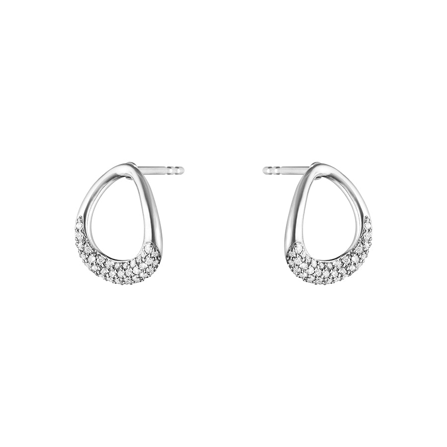 Offspring Earrings - Sterling Silver with Diamonds