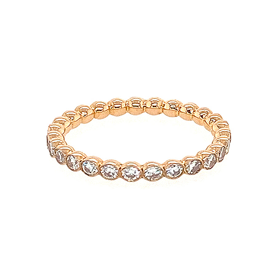 Bubble Full Set Eternity Ring in 18kt Rose Gold