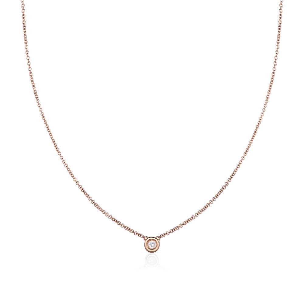 Solo Necklace in 18kt Rose Gold
