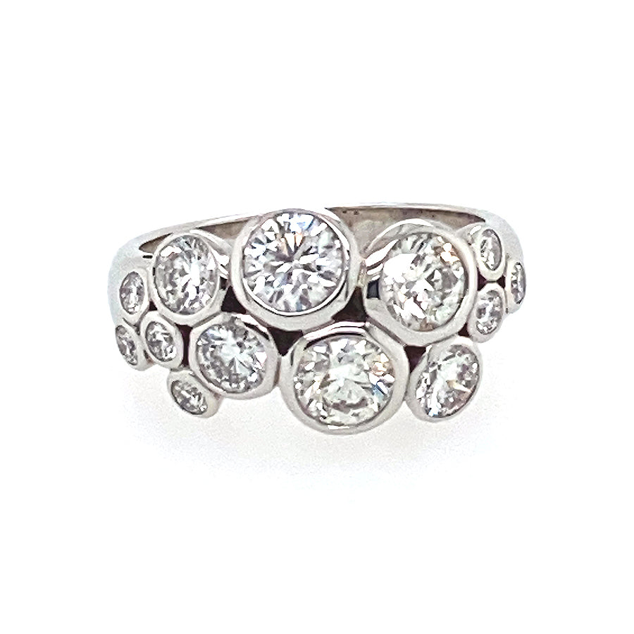Scattered Diamond Dress Ring