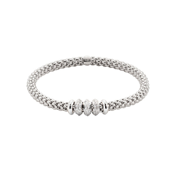 Solo Flex'It Bracelet with Multiple Diamond Rondels