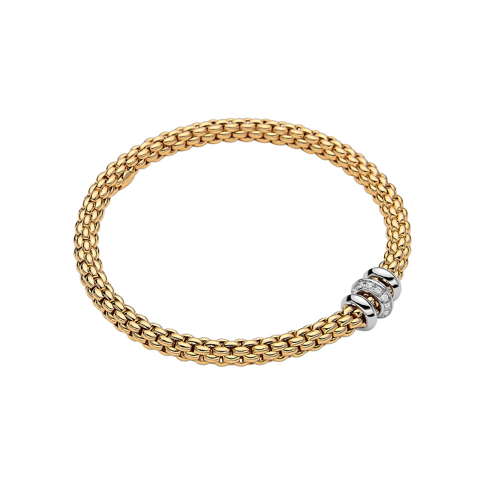 Solo Flex'It Bracelet with Diamond Rondel
