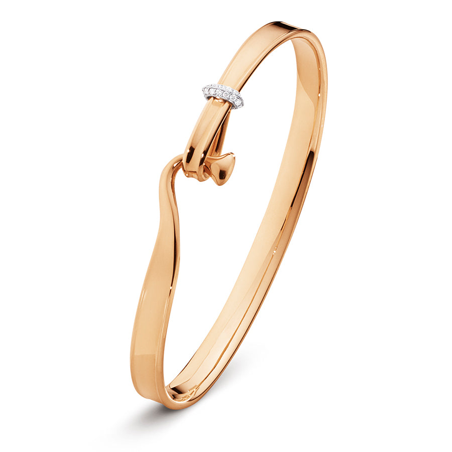 Torun Bangle - 18kt Rose Gold with Diamonds