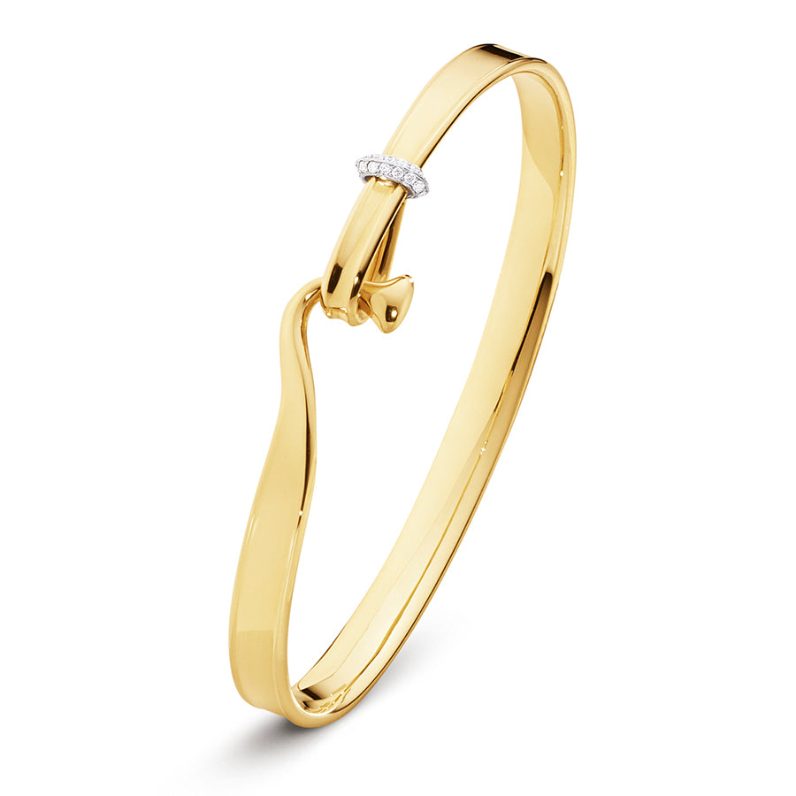 Torun Bangle - 18kt Yellow Gold with Diamonds
