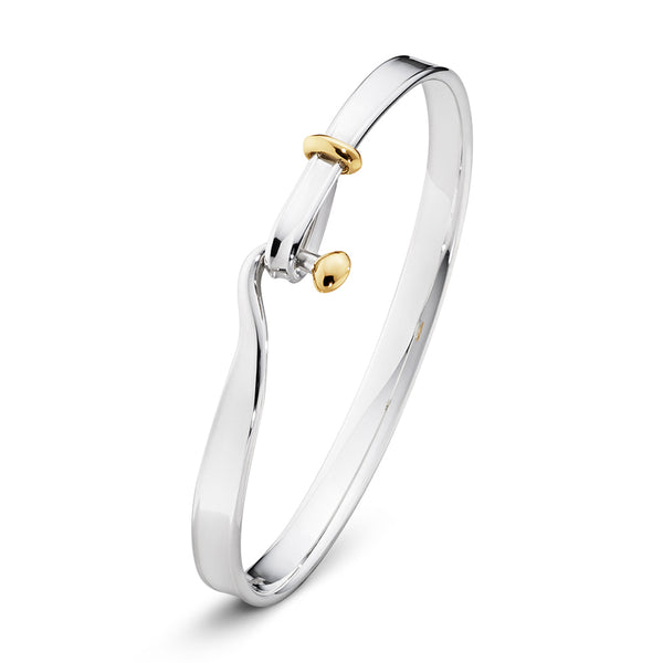 Torun Bangle - Sterling Silver with 18kt Yellow Gold