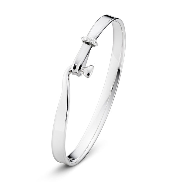 Torun Bangle - Sterling Silver with Diamonds