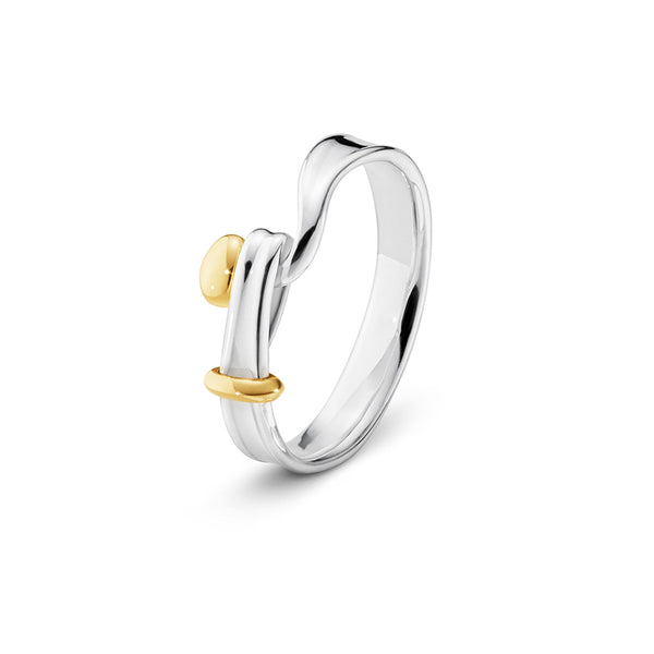 Torun Ring - Sterling Silver and 18kt. Yellow Gold