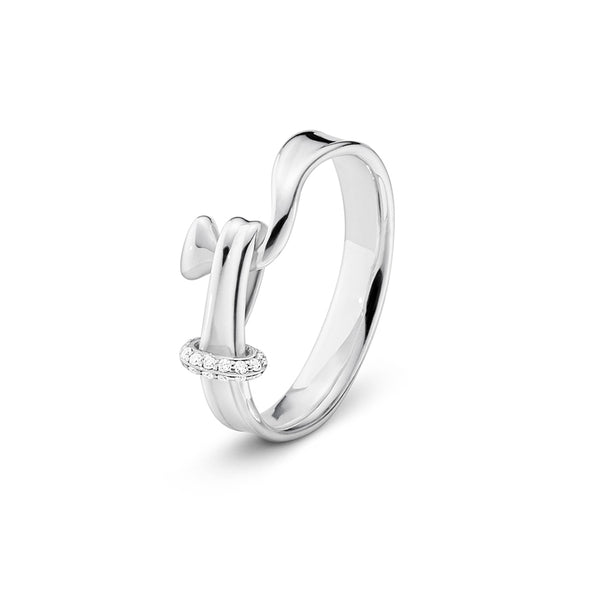 Torun Ring - Sterling Silver with Diamonds