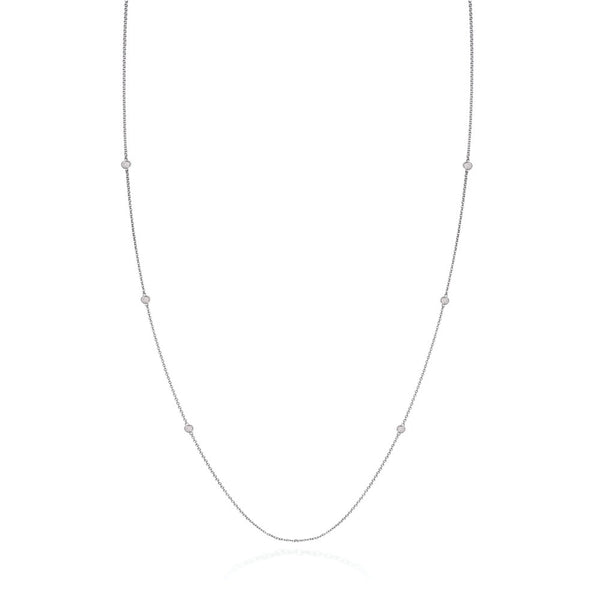 Solo Long Necklace in 18kt White Gold