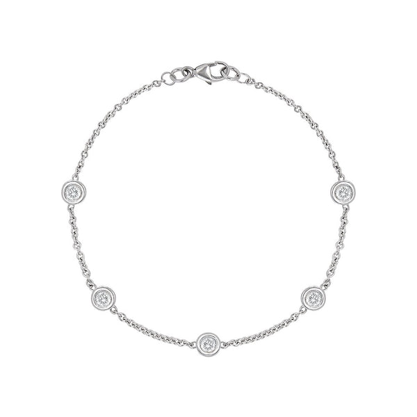 Solo Multi Stone Bracelet in 18kt White Gold