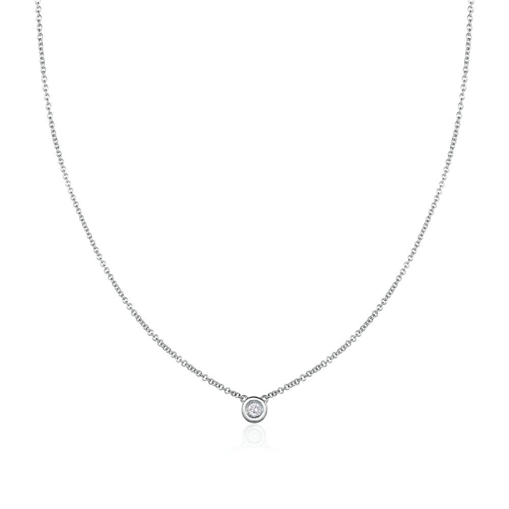Solo Necklace in 18kt White Gold