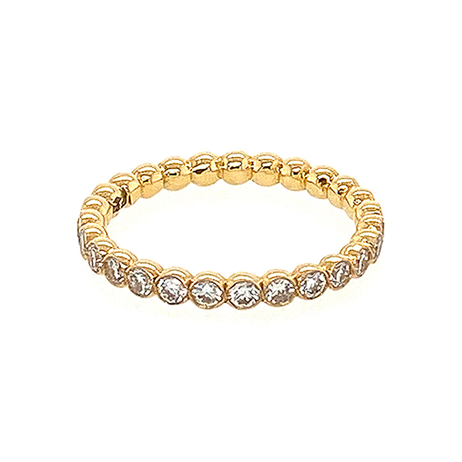 Bubble Full Set Eternity Ring in 18kt Yellow Gold