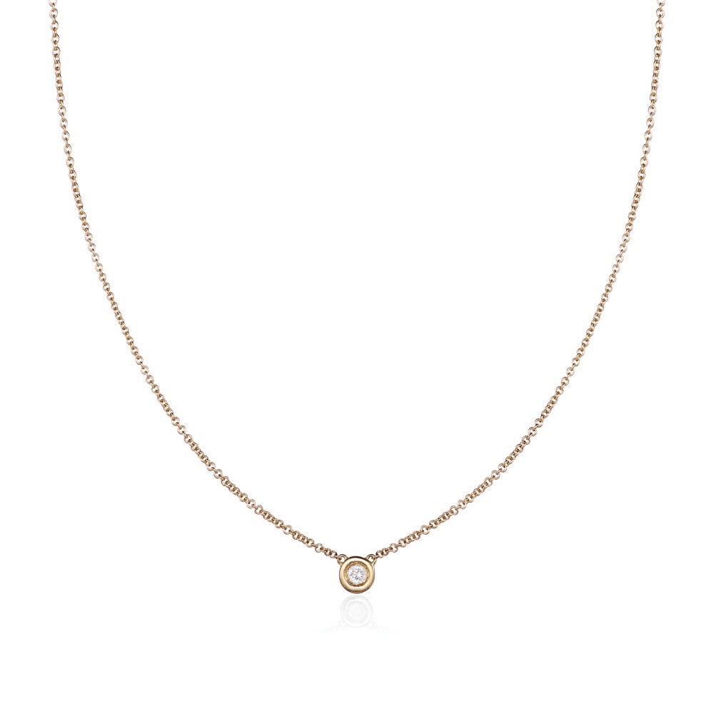 Solo Necklace in 18kt Yellow Gold