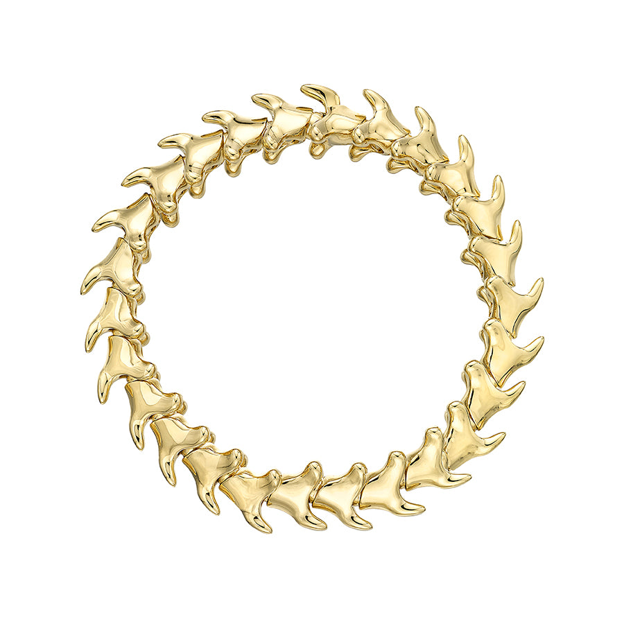 Serpent's Trace Yellow Gold Vermeil Wide Bracelet
