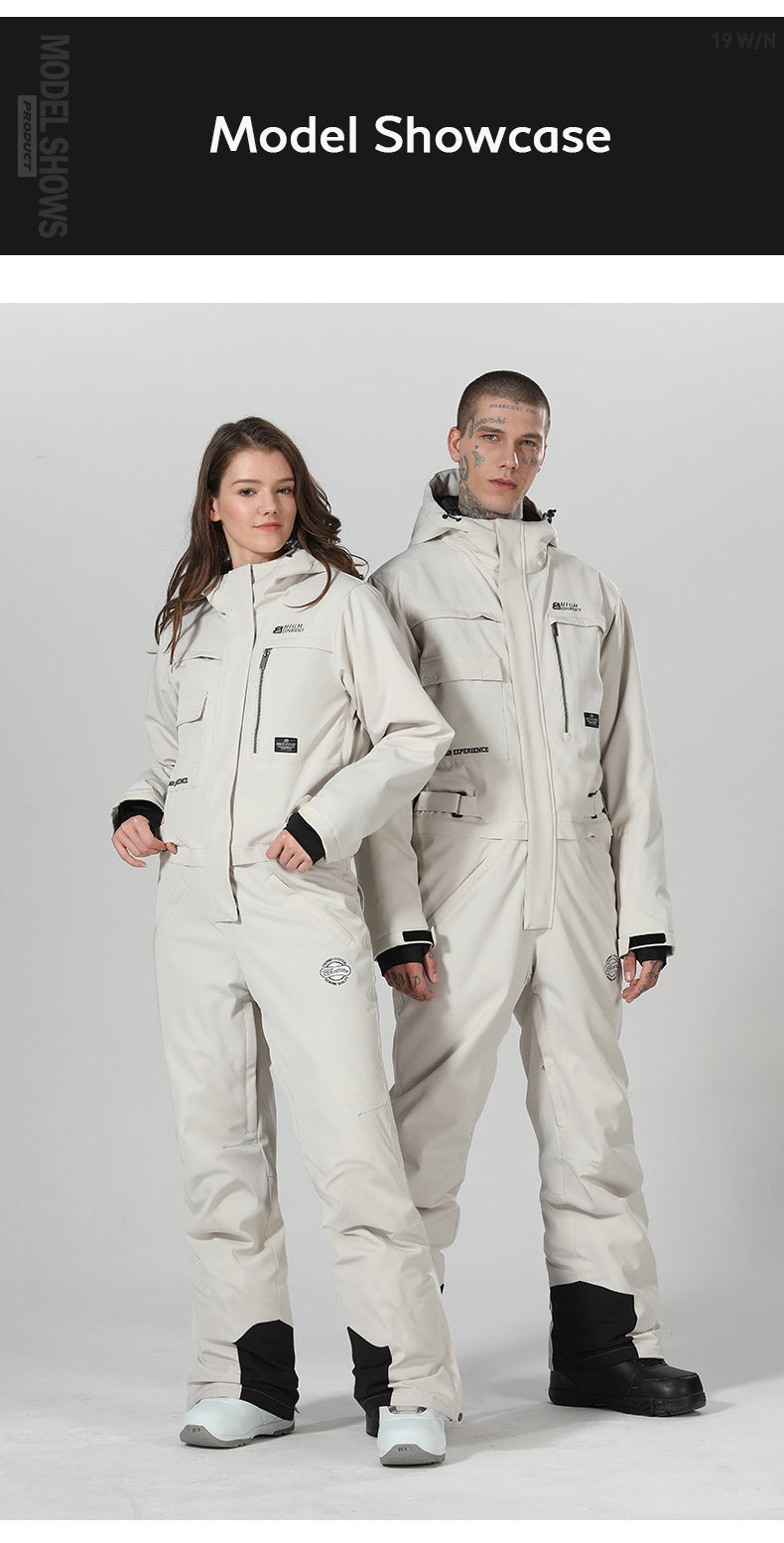 High Experience Winter Snowsports Stylish One Piece Snowboard Suits