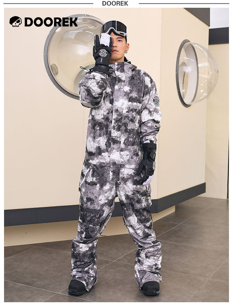 Doorek Superb Camo One Piece Ski Suits Winter Snowsuits