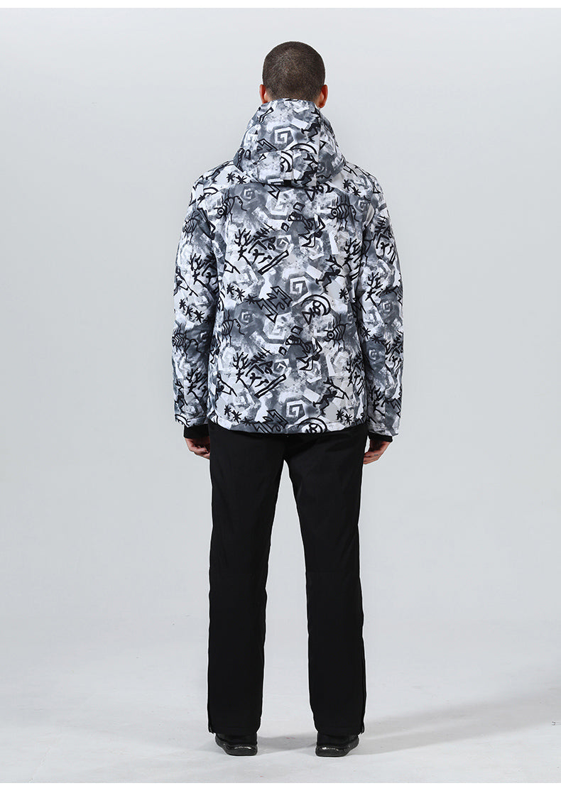 Men's High Experience Cool Oracle Color Print Mountains 15k Waterproof Snowboard Jacket