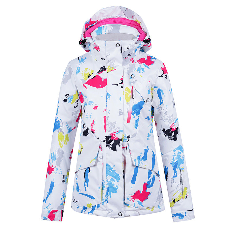 Women's Colorful Ice Skating Winter Outdoor Fashion Snowboard Jacket