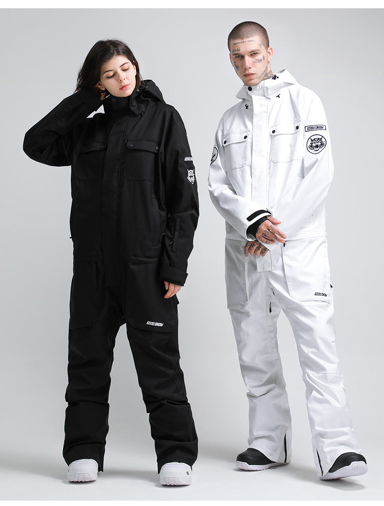 Men's Gsou Snow Mountains Tiger Snowboard Suits Winter Snowsuits