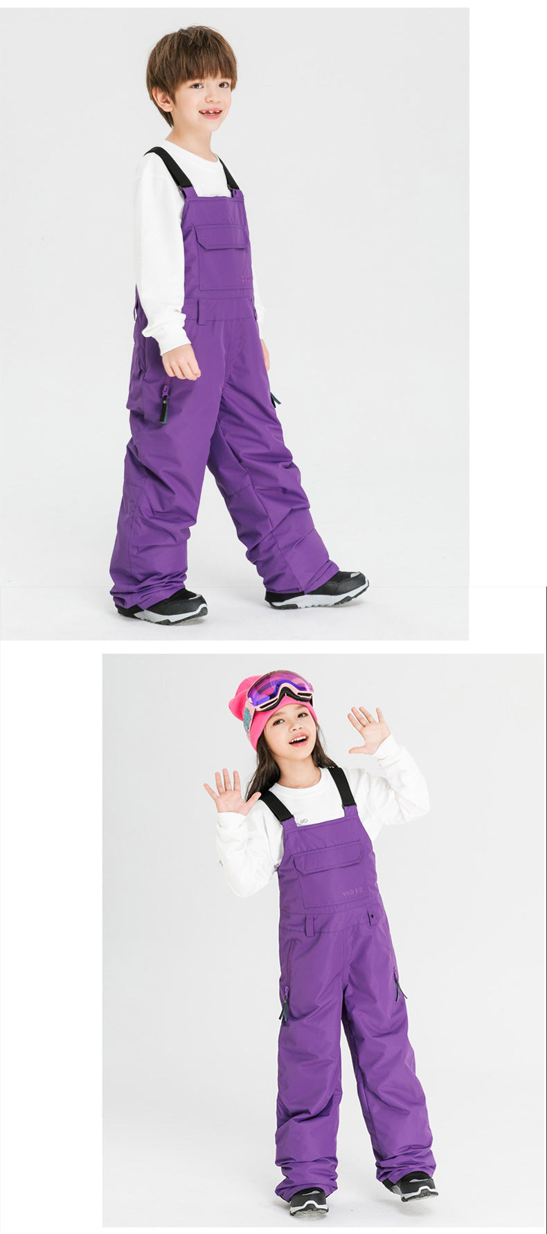 Kid's Nandn Extreme Mountain Outdoor Ski Pants Snow Bibs
