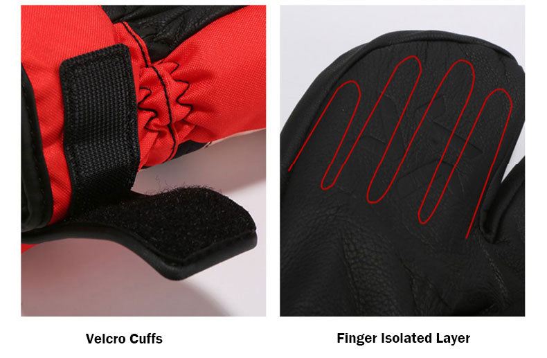 LD Ski Rock Snow Mittens