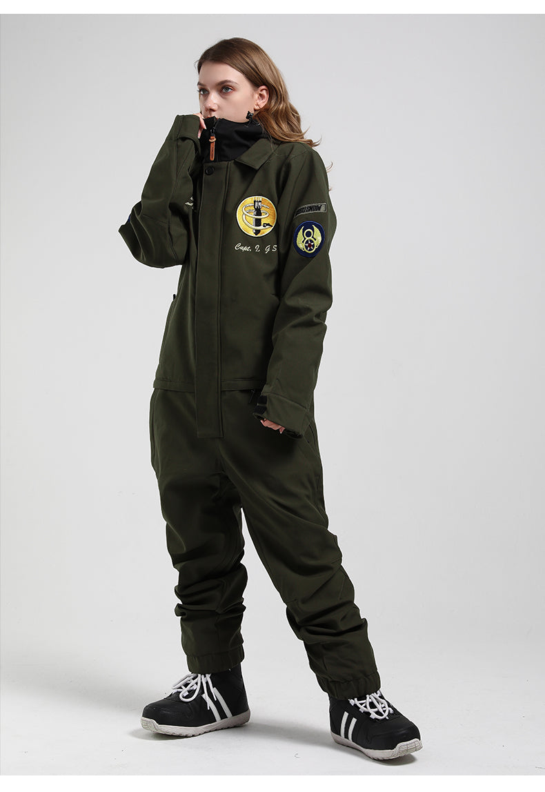 Women's Gsou Snow 13th Bombardment Group Special Collection 15k Waterproof One Piece Snowboard Suits