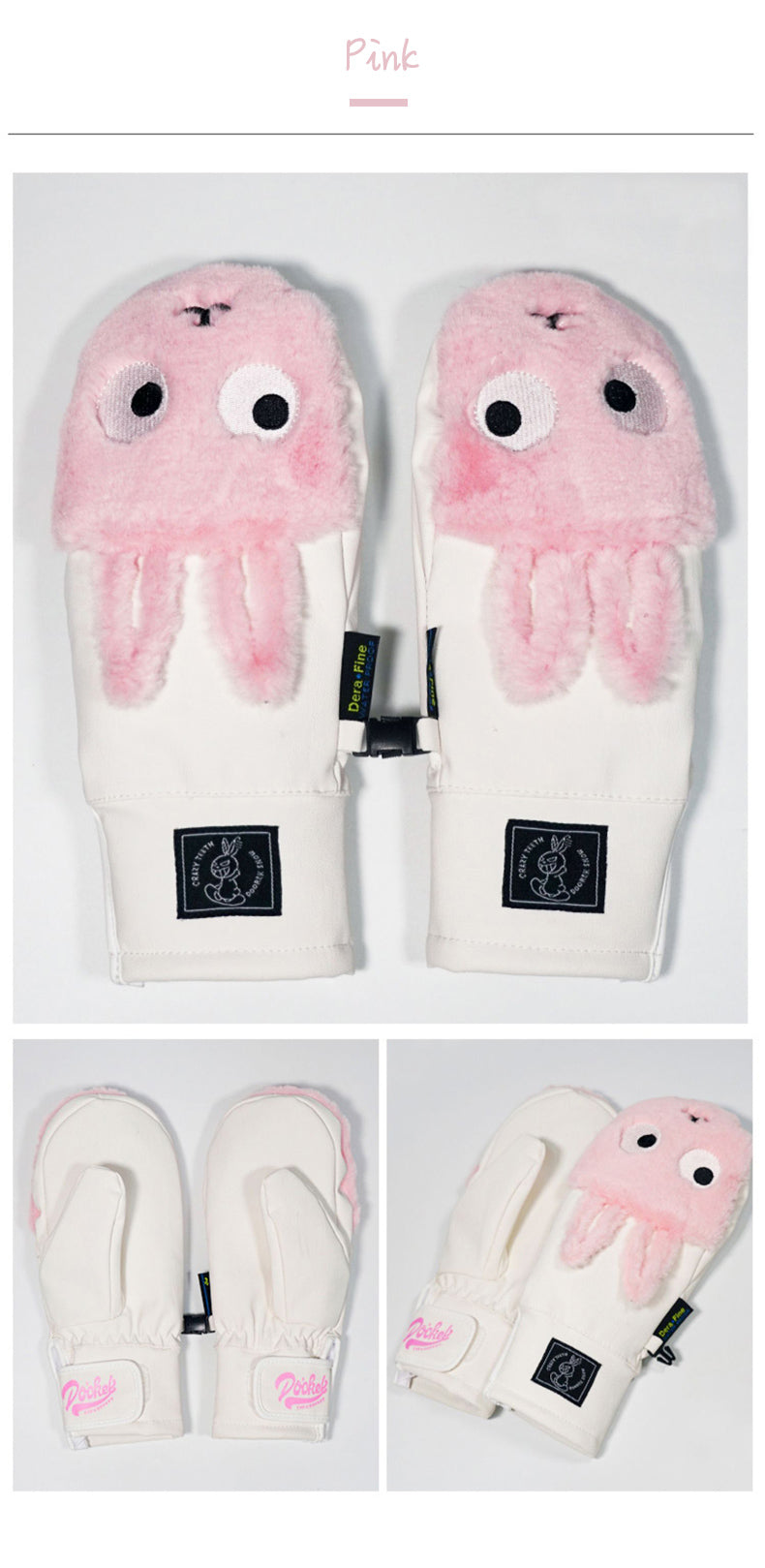 Women's Doorek Cute Bunny Snow Gloves