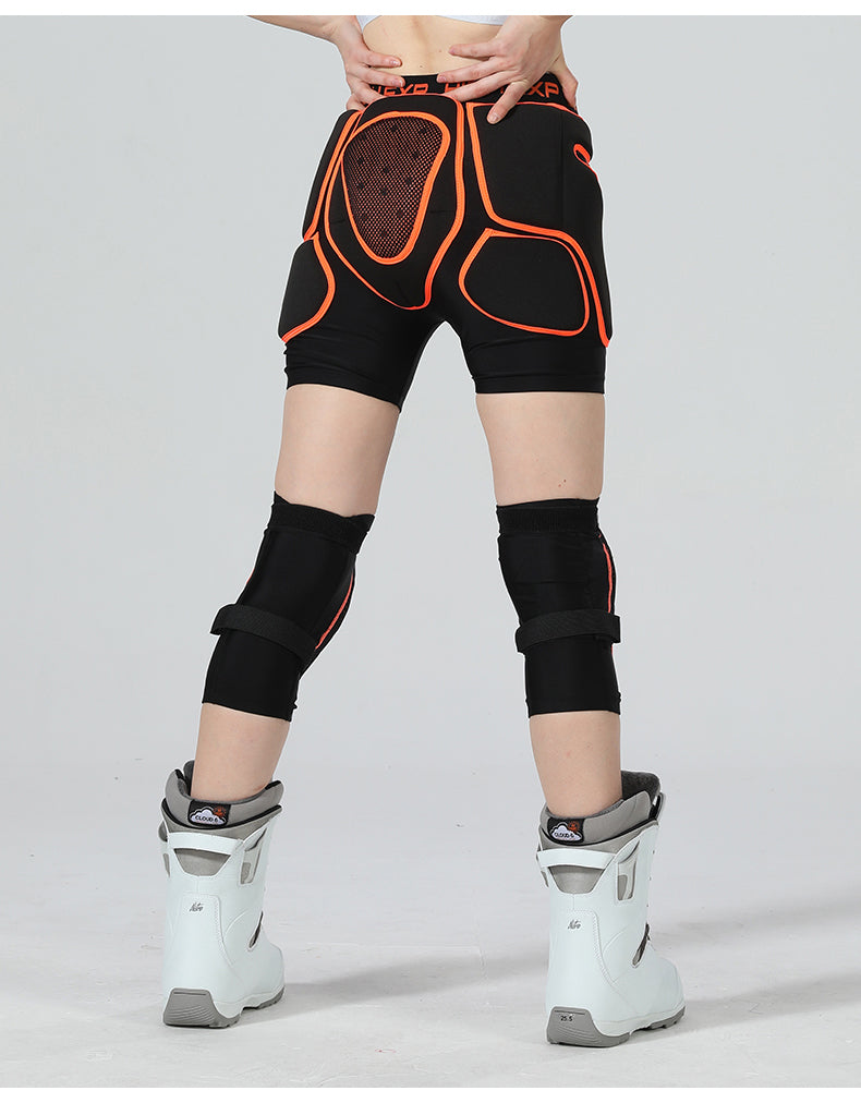 High Experience Unisex Total Impact Protective Shorts / Knee Pads