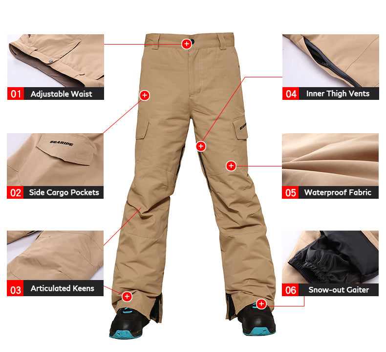 Men's Searipe Storm Thunder Snowboard Pants