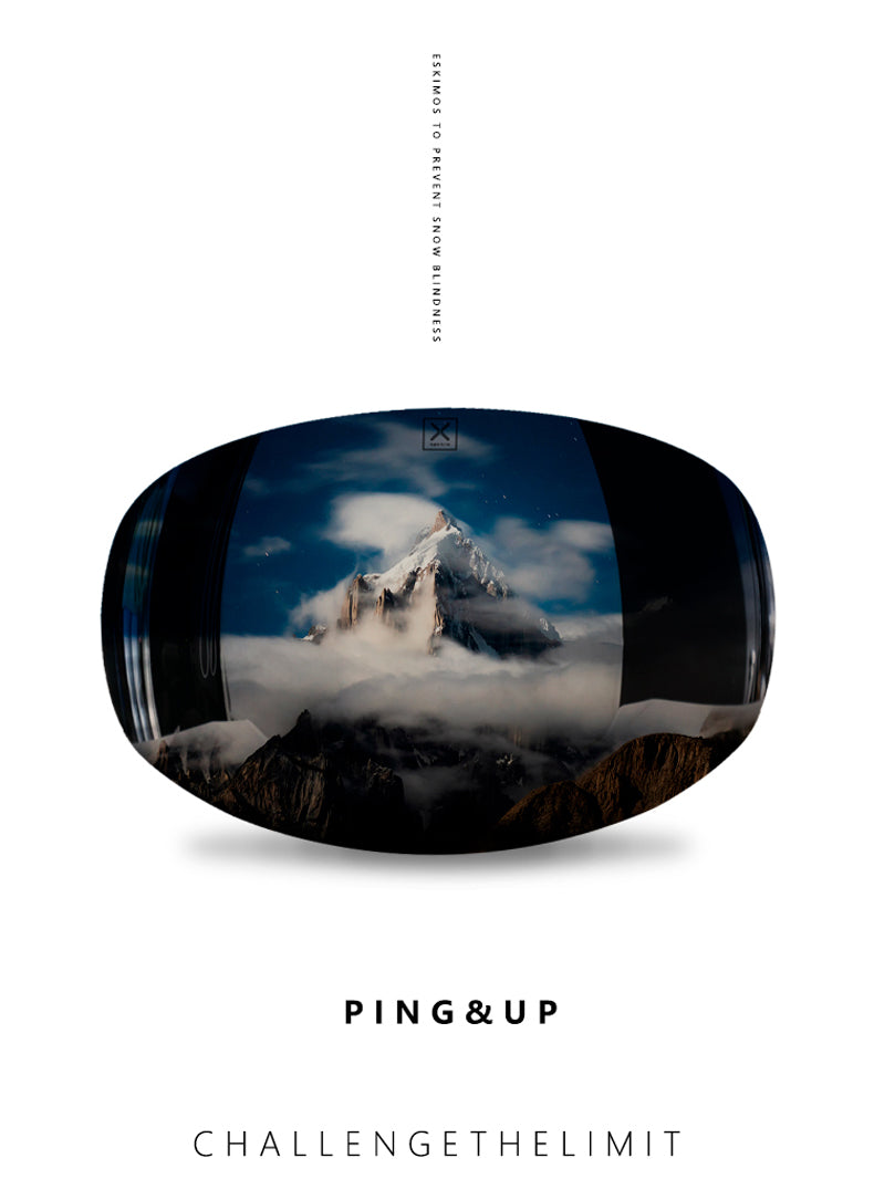 Ping & UP Unisex Snow Magnetic Goggles