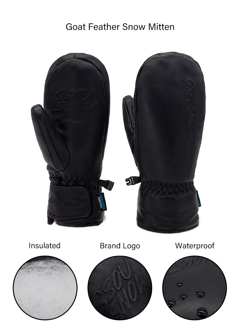 Women's Gsou Snow Goat Leather Winter All Weather Snow Gloves