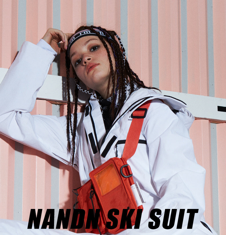 Women's Nandn Urban Practical Winter Outdoor Sportswear Waterproof One Piece Snowboard Suits