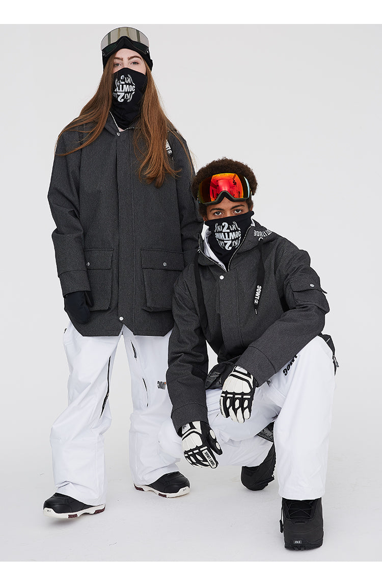 TWOC Multi-functional Waterproof Unisex Snowboard Jacket Winter Coat