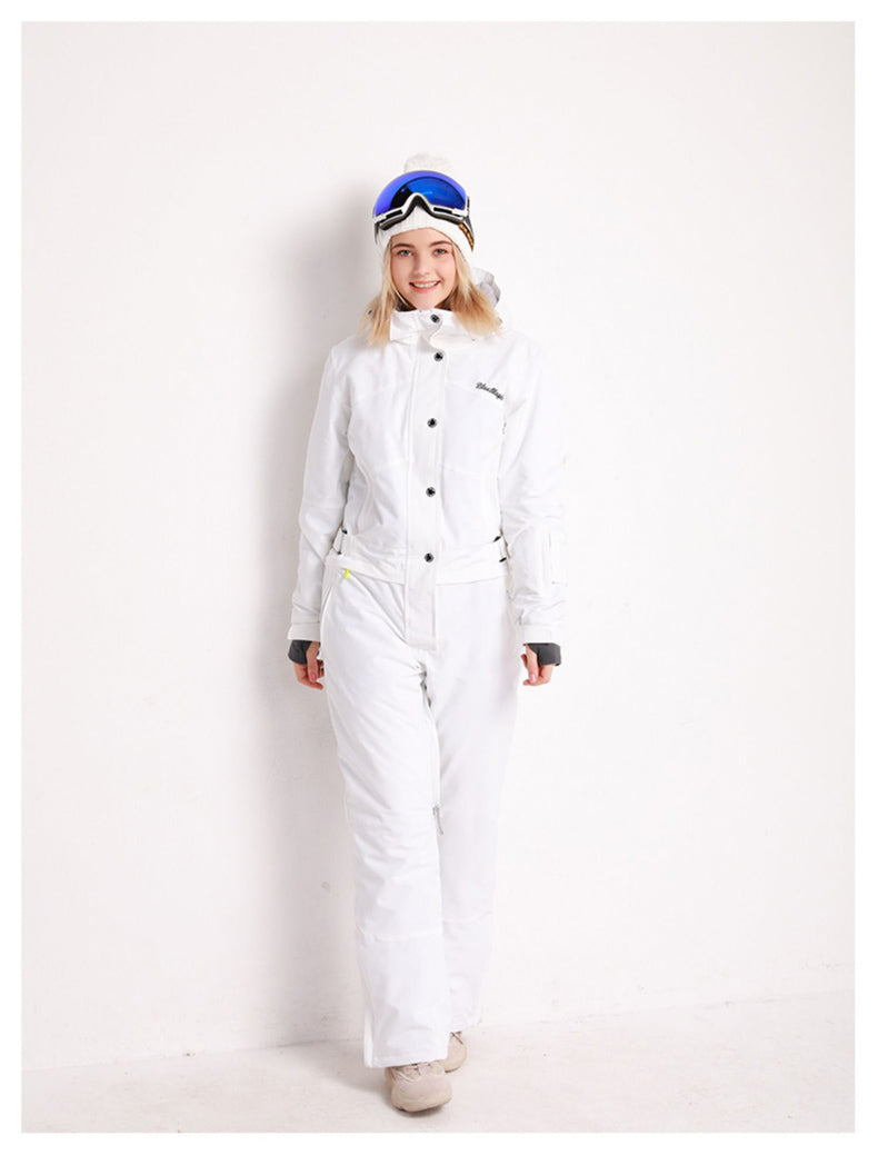 Women's Blue Magic Winter Fun All In One Piece Ski Jumpsuit Winter Snowsuits