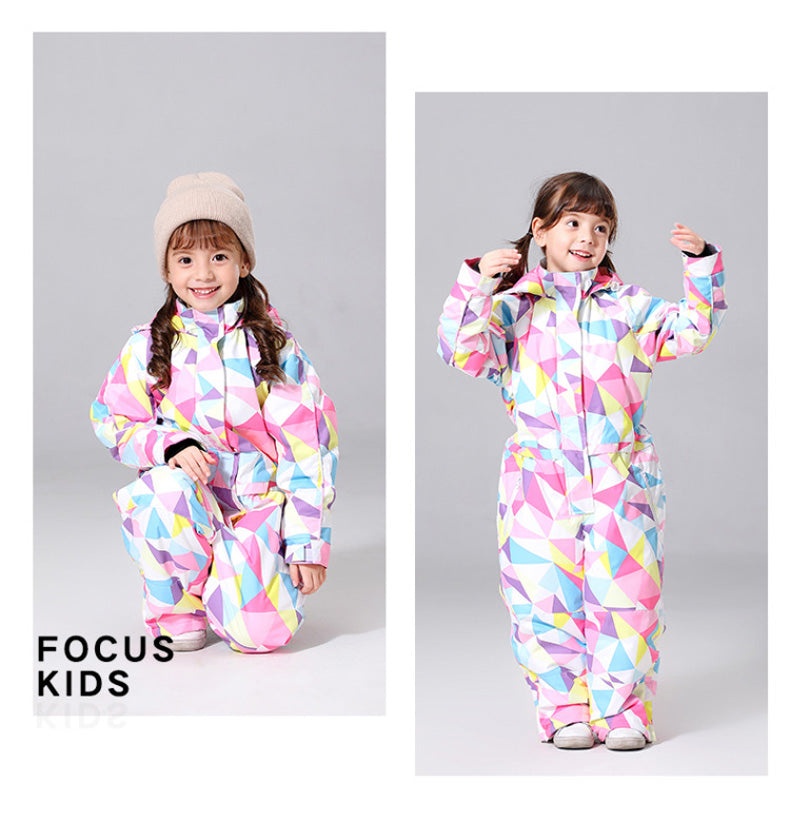 Girls One Piece New Style Fashion Ski Suits Winter Jumpsuit Snowsuits