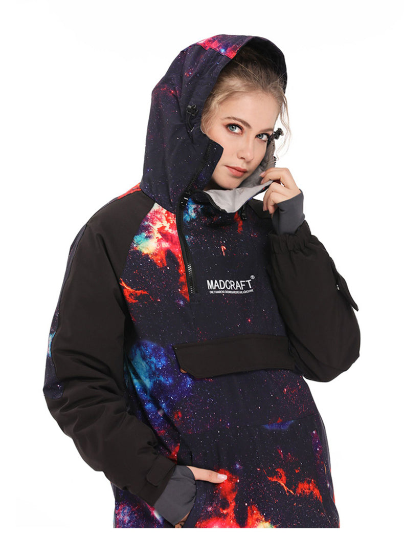 Mad Craft Snow Tech Unisex Pullover Waterproof Snow Hoodie