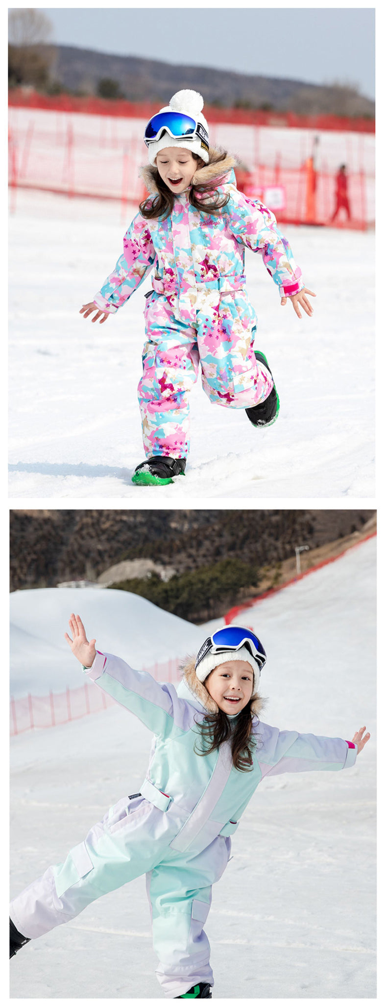 Kid's Blue Magic Winter Waterproof Colorful One Piece Ski Suits Jumpsuits Coveralls