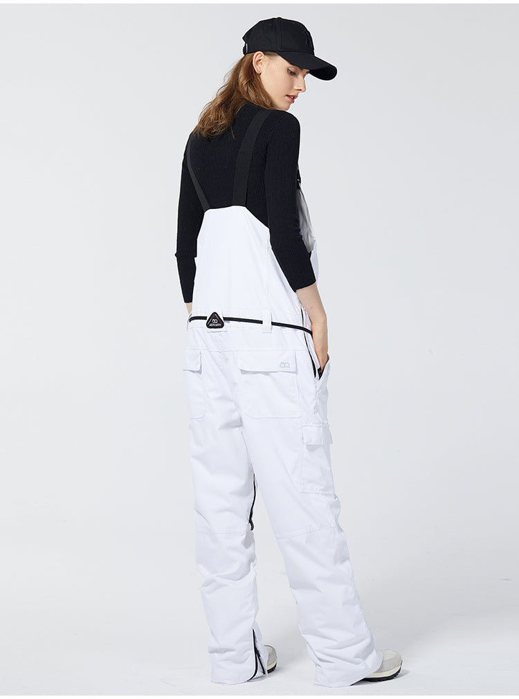 Women's Arctic Queen French Simplicity Snowboard Ski Bib Pants