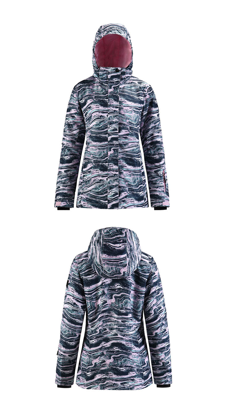 Women's SMN Mountain Fortune Colorful Print Snowboard Jacket