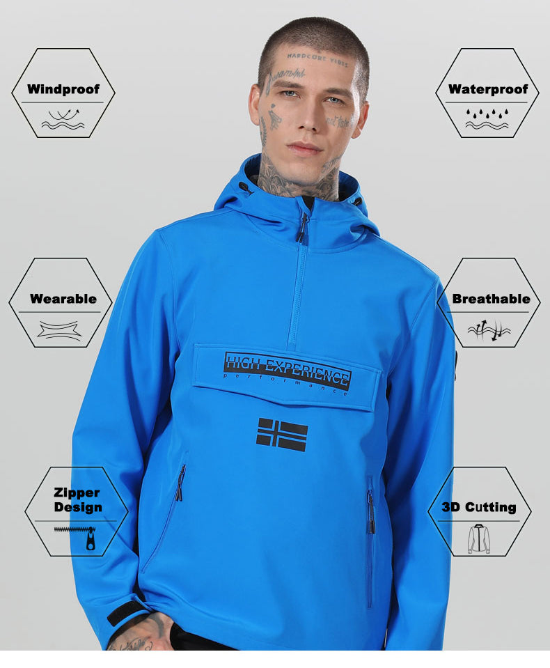 Men's High Experience Spring & Fall Outdoor Mountain Soft Shell Jacket
